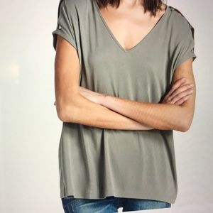 Lucky Brand Button Sleeve Top, like new